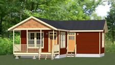 16x30 House -- 2 Bedroom  -- PDF Floor Plan -- 705 sq ft -- Model 4D