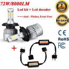H8 H9 H11 LED Headlight KIT Bulb 8000LM & Anti flicker Canbus NO Error Reisistor