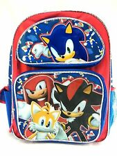 """Sonic The Hedgehog Large 16"""" inches School Backpack for Boys New Licensed"""