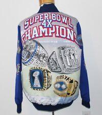 New York Giants 4x Super Bowl Champion FANIMATION JACKET Men Large L White RINGS
