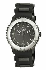 GV2 by Gevril Men's 9701 Aurora Luminous Limited Edition Black Silicone Watch