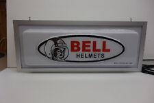 Bell Helmet Back Lighted Pan Formed Embossed Dealership Counter Sign!