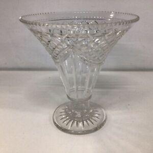 Crystal Vase Art Deco trumpet Style #404