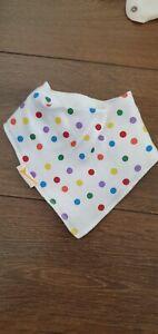 NEW funky giraffe girls neckerchief bandana dribble bib white spotty spots