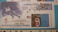 2002 WINTER OLYMPIC GAMES MEDAL WIN COVER, USA CHRIS KLUG SNOWBOARD SLALOM