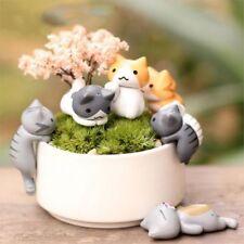 5x Cartoon Lazy Cats For Micro Landscape Kitten Landscape Home Garden