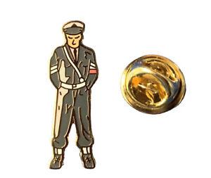 Small RAF Police Military Policeman (Snowdrop) figure pin badge