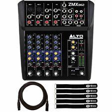 Alto Professional ZMX862 Passive 6-Channel Compact DJ Live Sound Mixer w Cable