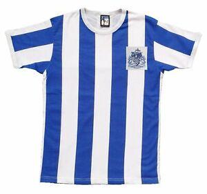 Halifax Town 1960s Retro Football T Shirt Embroidered Crest S-XXL