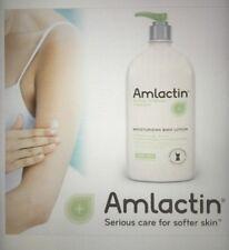 AmLactin Alpha Hydroxy Therapy BODY LOTION EXTRA DRY Scaly Skin HUGE 20 Oz