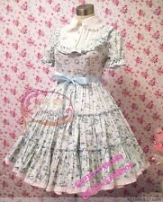 Cosplay Lolita Vintage Floral Sweet Princess Dress (Light Blue)