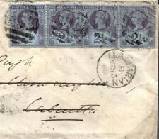 C109a 1888 GB WALES INDIA MAIL Cardigans *Llanfarian* Numeral Cover Darjeeling