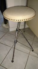 1960's Drum Throne Seat Stool Chair Vintage Music Antique Foldup Collection Gift
