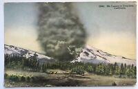 My Lassen In Eruption California Snow Covered 1915 Era Postcard Antique