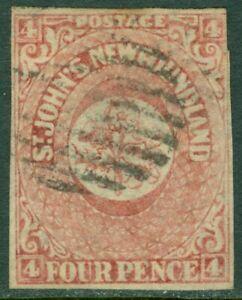 EDW1949SELL : NEWFOUNDLAND 1861 Scott #18 Fine, Used. Light cancel. Catalog $70.