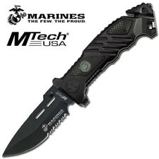 Ma1023Bk-Usmc Marines Spring Assisted Tactical Rescue P/Knife