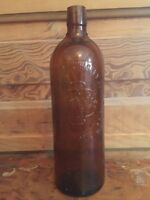Antique The Duffy Malt Whiskey Company Rochester NY Embossed Brown Bottle