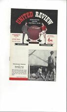 Division 1 Home Teams Manchester United Football Programmes