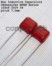100nF, 0,1uF x 250V 5% Condensatore Poliestere Mylar Capacitors 2 pezzi