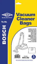 Electruepart BAG 262 pack of 5 Vacuum Cleaner Bags to fit Bosch Vacuum Cleaners