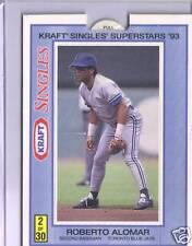 Toronto Blue Jays Roberto Alomar Kraft Singles Superstar Rare Collector Card 93
