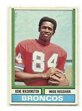 1974 Topps Parker Brothers #63 Gene Washington Denver Broncos Excellent