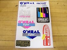 NOS Vintage O'Neal Motocross MX Enduro Sticker Decal Pack Honda Yamaha Maico