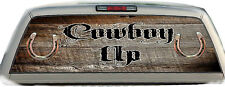 Cowboy Up Rustic #02 Rear Window Graphic Tint Truck Stickers Decals