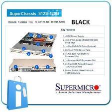 SUPERMICRO 812S-420B 420w BLACK - 1 U Rack Server Chassis CSE-812S-420B