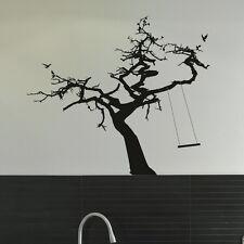 Tree & Rope Tree Wall Sticker / Giant Vinyl Art Decor / Tree Wall Transfer ne32