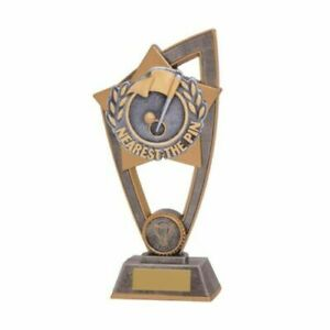 Nearest the pin golf Resin Trophy 2 sizes With Free Engraving up to 45 Letters