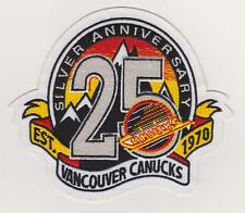 Vancouver Canucks 25th Anniversary Jersey patch Only correct patch