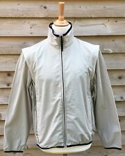Castelli Water Resistant Full Zip Regular Fit Cycling Jacket/Gilet Beige Large