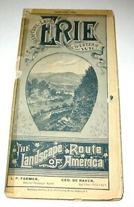 New York Lake, Erie & Western Railroad Pocket Timetable (Western Section)1/1887