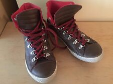 Converse Chuck Taylor Leather Brown Hiker Sneaker  shoes Hi Top WOMEN'S  Sz 7