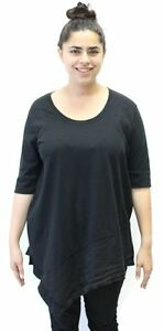 Flax Designs Urban Flax Grateful Pullover Tunic  Black   Size  Large