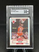 1990-91 Fleer, Michael Jordan #26 🐐 SGC GEM MINT 10 🔥 🔥 PERFECT GEM!