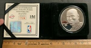 HIGHLAND MINT SPORTS COLLECTION MICHAEL JORDAN SILVER COIN #RD/2500 (AA)