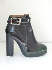 Jeffrey Campbell Ankle Boots 38 5 Lack grün Patent Leather green