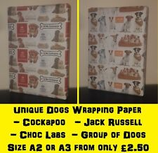 NEW A2 / A3 DOGS Wrapping Paper * Animal Baby Birthday Party Fun bird flying!
