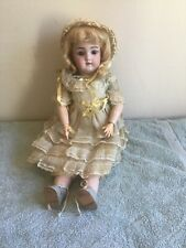 """ANTIQUE Handwerck #109  7 1/2.  German DOLL  17"""". JOINTED  Compo  SOCKET EYES"""