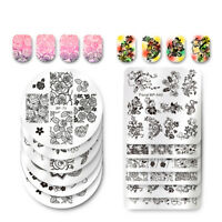40 Style Born Nail Art Stamping Plates Flower Rose Leaves Templates Tips Salon