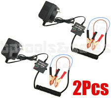 (Lot of 2) 12 Volt Automatic Battery Float Charger Trickle Car Boat Motorcycle