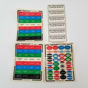 VTG 1980 Tupperware Fuse Labels