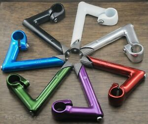 "Road Bike STEM 22.2mm Fork 1"" Handlebars Vintage Fixie Track Cruiser Bicycle SR"