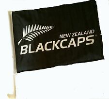 New Zealand Blackcaps Cricket World Cup 2015 2 x Car Flags