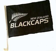 Zealand Blackcaps Cricket 2 x Car Flags