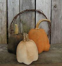 PATTERN~MY PRIMITIVE SALTBOX/harvest pumpkins/FALL/HALLOWEEN/REAL STEMS/PT110