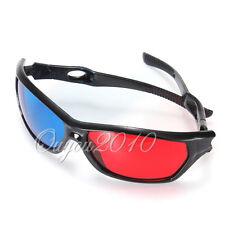 Plasma TV Movie Dimensional Anaglyph Framed 3D Vision Game Red & Blue Glasses