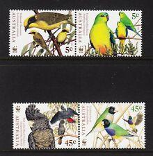 103860/ Australien 1998 - Mi 1744/7 - Vögel Australiens / WWF - **